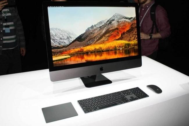 De type tout-en-un, l'iMac Pro est une machine intéressante mais si l'écran tombe en panne, le graphiste ou le monteur vidéo se retrouve sans Mac... (Crédit IDG).