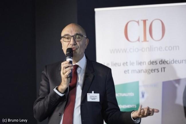 Dominique Pardo, Président de Total Global IT Services a été le Grand Témoin de la conférence CIO du 5 décembre 2017 «Améliorer le rapport qualité/coût de la DSI».