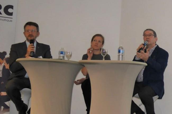 A l'occasion de l'étape orléanaise, Thierry Autret (délégué général du Cesin), Marie Soulez (avocate Alain Bensoussan Lexing) et Bruno Rasle (délégué général AFCDP) sont intervenus sur GDPR. (crédit : LMI)
