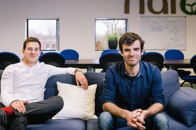 Naio Technologies a été cofondée à Toulouse par Aymeric Barthes, président (a droite), et Gaëtan Séverac, directeur général (à gauche). Crédit : (D.R.)