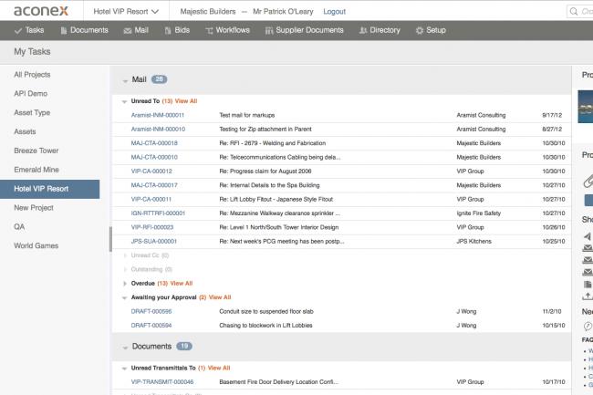 Oracle lance une OPA sur le fournisseur cloud Aconex sp�cialis� dans les outils de collaboration pour les grands projets.