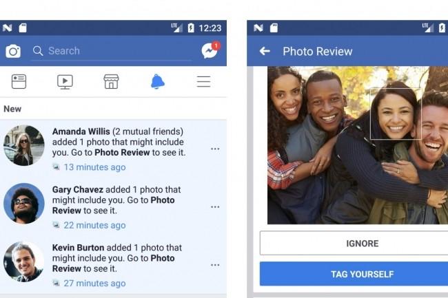 Les utilisateurs qui activeront la reconnaissance faciale sur leur profil Facebook seront prévenus lorsqu'une photo d'eux sera publiée publiquement ou partagée avec eux. (crédit : D.R.)