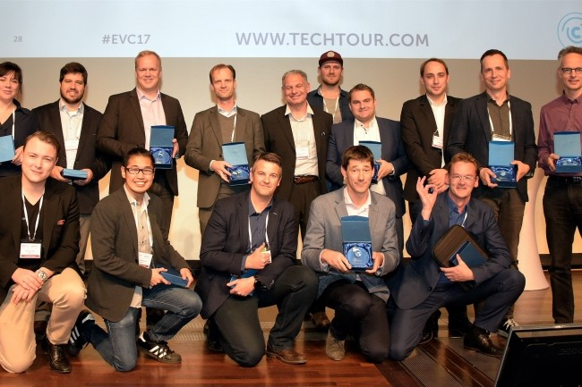 Les start-ups finalistes du Tech Tour EVC 2017 issues de 10 pays dont la France. (Crédit : Tech Tour EVC)