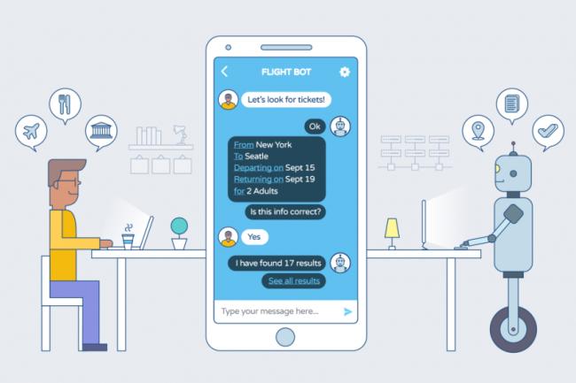 Les chatbots assurent une relation client automatisée (vente ou support) qui donne globalement satisfaction aux directions marketing. (Crédit D.R.)