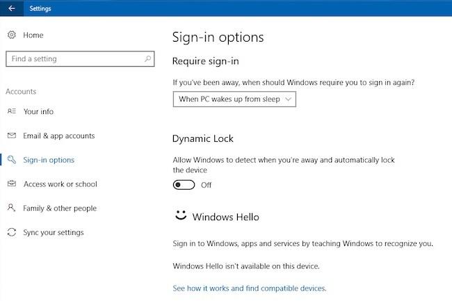 La fonction Windows Lock est arrivée avec Windows 10 Creators Update (la version 1703). (Crédit D.R.)