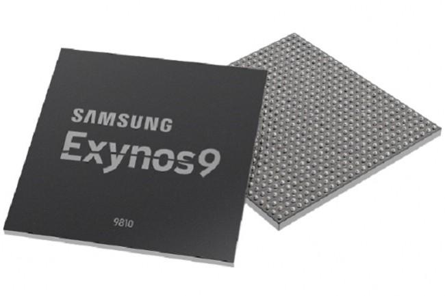 Toujours gravée en 10 nm, la puce SoC Exynos 9 Series 9810 de Samsung commencera sa carrière avec le Galaxy S9. (Crédit Samsung)