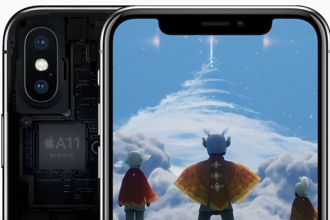 La puce A11 Bionic, qui équipe l'iPhone X, est concernée par les failles Meltdown et Spectre. (Crédit Apple)
