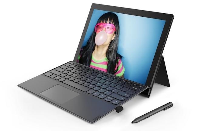 Clone de la Surface 2-en-1 de Microsoft, le Miix 630 n'est pas animé par une puce Intel x86 mais Qualcomm ARM. (Crédit Lenovo)