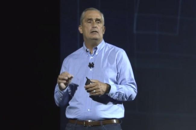 Brian Krzanich a assuré à son auditoire du CES qu'Intel s'était engagé à résoudre les vulnérabilités Meltdown et Spectre.«La sécurité est la première préoccupation d'Intel et de notre industrie». (Crédit IDG)
