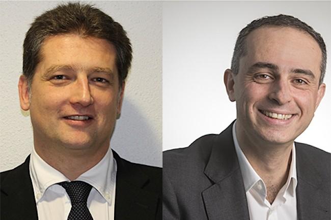 S-Cube, dirigée par Antoine Chacra (à droite), devrait garder son indépendance juridique, mais devient une filiale de Spie ICS, dirigée par Cédric Périer (à gauche) (Crédit : Spie ICS).