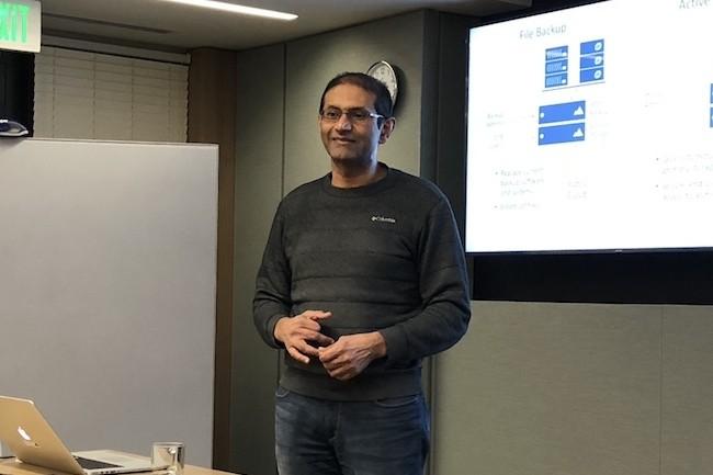 Kiran Bhageshpur, le CEO et cofondateur d'Ingeous Systems, nous a reçu dans les luxueux locaux de son investisseur NEA. (Crédit S.L)