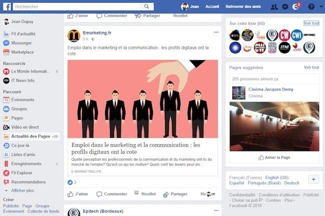 Grâce à la prochaine mise à jour de Facebook, il sera possible de contrôler plus finement ses pages de news et son fil d'actualités. (crédit : D.R.)