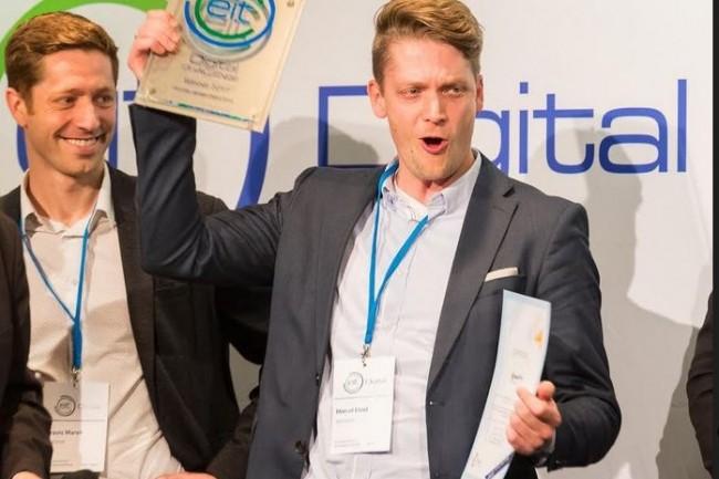 ApiOmat, une start-up allemande fondée par Marcel Etzel (ci-dessus à droite) et Travis Marsh s'est distinguée dans la catégorie infrastructures numériques. (Crédit. D.R.)