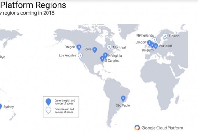 Google va étendre son réseau d'infrastructure en 2018 et 2019
