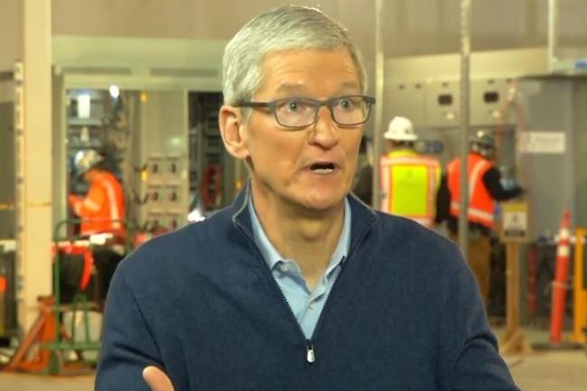 Le CEO d'Apple, Tim Cook, a annoncé que son entreprise va investir 30 milliards de dollars par an aux Etats-Unis jusqu'en 2023. (crédit : D.R.)