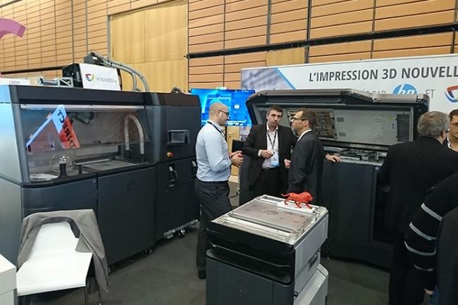 HP a annoncé également l'arrivée de deux produits d'impression 3D et de matériaux pour 2018-2019. (Crédit : N.C.)