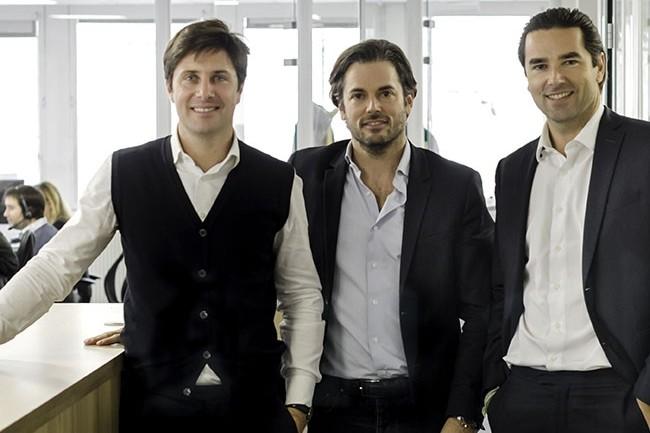 Les cofondateurs d'Oodrive : C�dric Mermilliod, Stanislas de R�mur et Edouard de R�mur (de gauche � droite) pr�voient un autre rachat en Allemagne. (Cr�dit : D.R.)