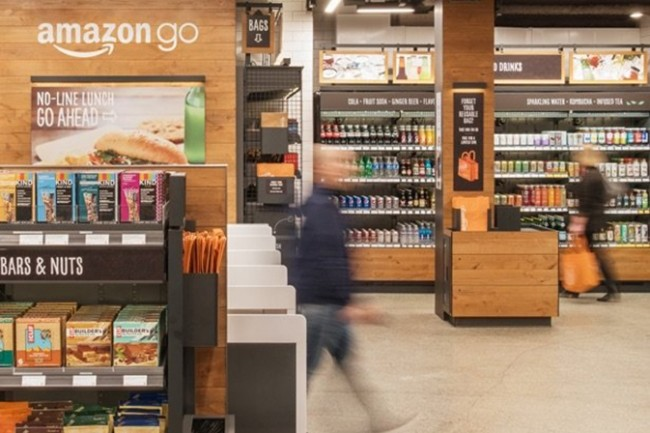 La technologie « Just Walk Out Shopping experience » utilise une combinaison d'apprentissage machine, de surveillance informatique, de capteurs et de deep learning. (Crédit : Amazon)