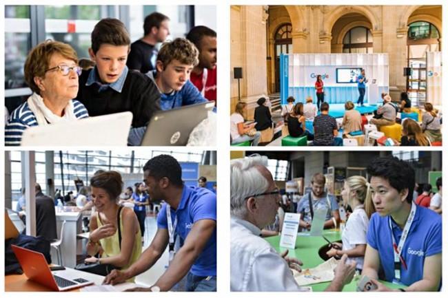 Google va aussi ouvrir quatre espaces physiques dédiés à la formation et à la découverte de l'informatique en régions, à commencer par la Bretagne, à Rennes. (Crédit : Google)
