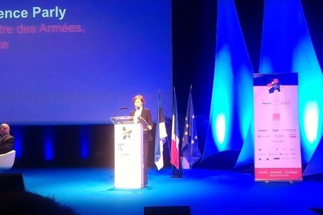 Florence Parly, ministre de la Défense sur le FIC 2018 mardi 23 novembre après-midi. (crédit : D.F.)