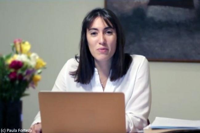 La d�put�e des Fran�ais de l��tranger (2�me circonscription, Am�rique du Sud et Cara�bes) Paula Forteza (LREM) est la rapporteure du projet de loi. (Cr�dit : Paula Forteza)