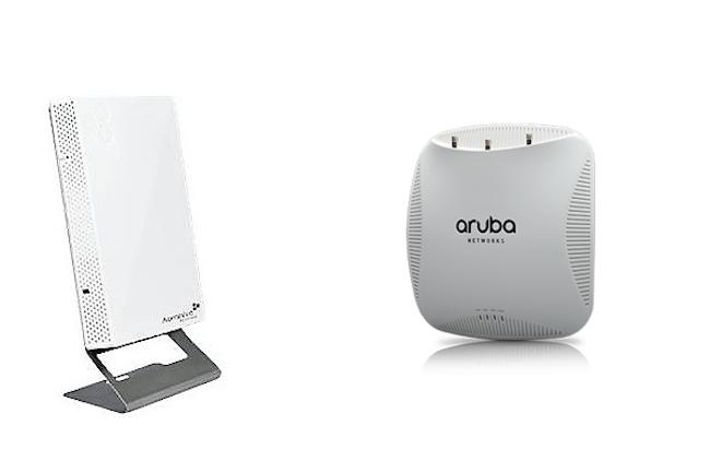 Les produits d'Aerohive et d'Aruba ont été commentés par les utilisateurs en entreprise. (Crédit D.R.)