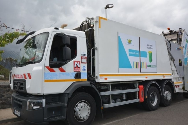 Les cartes SIM Matooma qui équipent les camions Nicollin repèrent le meilleur réseau disponible. (crédit : Nicollin)