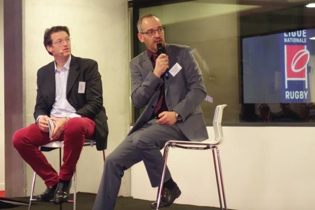 Jean-Charles Gemin (à droite), chef de programme Big Data chez RCI Bank and Services, a présenté hier 4 cas d'usage de machine learning. A ses côtés, Eric Delfosse, directeur des ventes Analytics chez Oracle France. (crédit : LMI/MG)