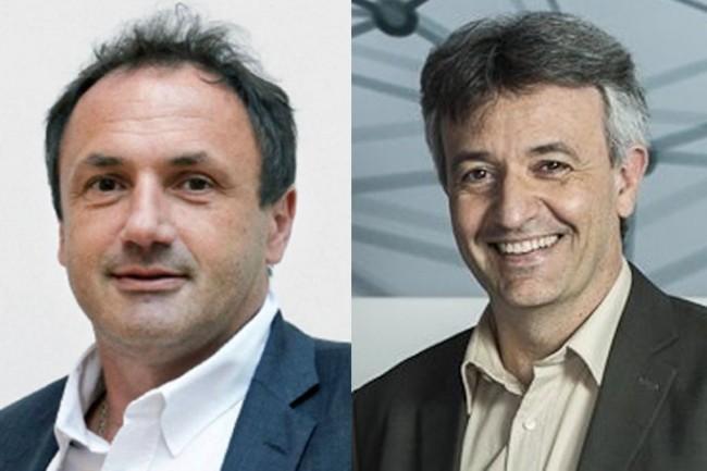 Ludovic Le Moan, CEO de Sigfox (à gauche) et Christophe Fourtet, CSO (à droite) ont fondé cette start-up en 2012 dans l'IoT Valley de Toulouse. (Crédit : D.R.)