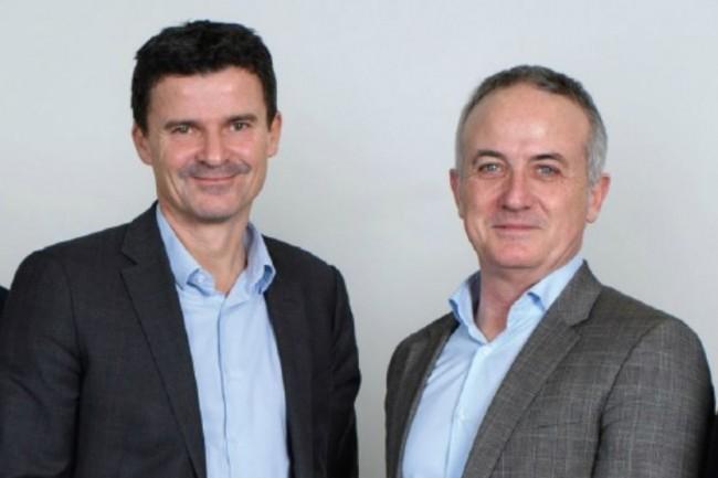 Mathieu Le Treut (à gauche), le nouveau directeur général de CIS Valley, aux côtés d'Alain Cadot, le président de l'ESN. (crédit : D.R.)