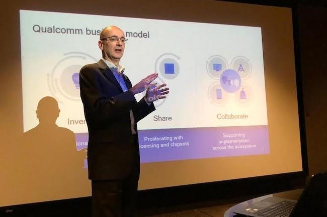 «Pour la 5G NT, nous sommes entrés dans une phase de déploiement avec une réalité commerciale en 2019», nous a indiqué ce matin Jean Varaldi, directeur général de Qualcomm France. (crédit : D.R.)