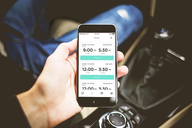 L'application SPLT connecte les salariés d'une même entreprise ou les étudiants d'un même campus pour leur proposer des solutions de covoiturage et calcule l'itinéraire le plus rapide. (Crédit : SPLT)