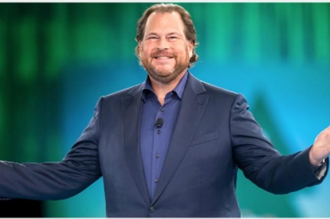 Marc Benioff, son CEO, veut désormais faire de Salesforce une entreprise aux 20 Md$ de chiffre d'affaires. (Crédit photo : D.R.)