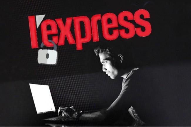 « L'Express » s'est dit victime d'une intrusion dans l'un de ses serveurs. (Crédit : montage Pixabay/Methodshop/LMI)