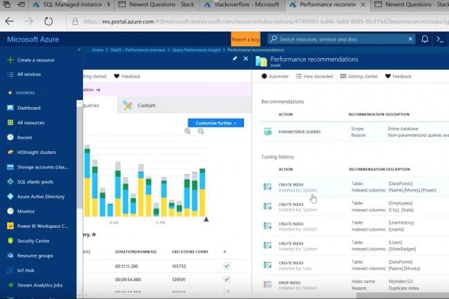 «Nous utilisons l'apprentissage machine pour comprendre les charges de travail de la base de données», commente Microsoft dans une vidéo de présentation de son nouveau service Azure SQL Database Managed Instance. (Crédit : Microsoft)