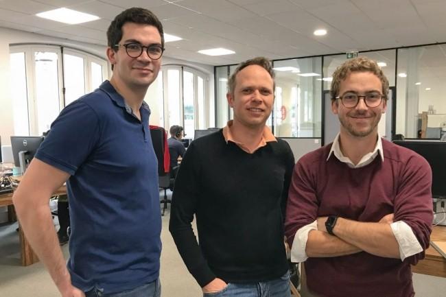De gauche à droite  Etienne Depaulis, Franck Le Ouay et Alexandre Huckert, fondateurs de Lifen ont développé une solution qui simplifie le quotidien des médecins et de leurs correspondants. Crédit. D.R.