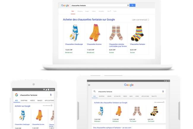 Pour tout achat réalisé via les annonces Google ou les liens vers les programmes de fidélisation des détaillants, ces derniers devront verser un pourcentage de la transaction à la multinationale. (Crédit : Google)