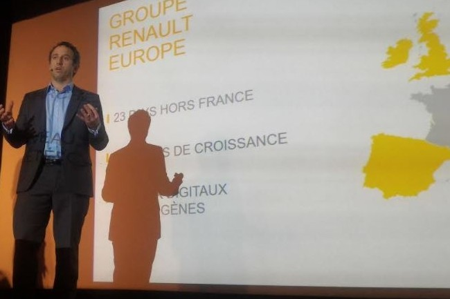A l'occasion des Experience Days organis�s par Adobe, Antoine Hery, directeur CRM et digital Europe de Renault, est revenu sur la strat�gie marketing digital du constructeur automobile. (cr�dit : D.F.)