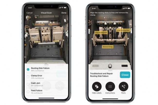 Avec IBM Watson Services for Core ML, les développeurs pourront exploiter les capacités de Watson pour leurs apps iOS, ci-dessus pour des applications de maintenance sur site. (Crédit : Apple).