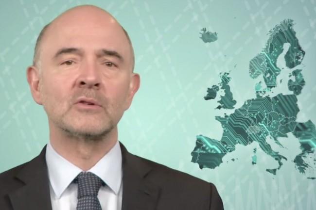 Pierre Moscovici, commissaire europ�en charg� des Affaires Economiques et Financi�res, de la Fiscalit� et des Douanes, concr�tise l'offensive de la CE contre les GAFA avec une taxe de 3% de leur chiffre d'affaires annuel brut. (cr�dit : D.R.)