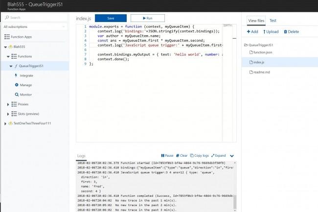 L'�criture de fonctions serveless (ci-dessus sur Azure) se fait sensiblement de la m�me fa�on � travers les services correspondants sur les trois grands clouds publics d'AWS, Microsoft et Google.  (Cr�dit : Pixabay/Geralt)