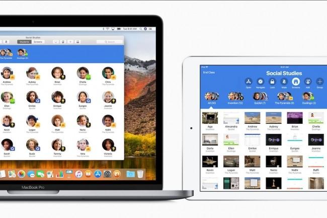 L'app Classrooms pour iOS, qui permet à un enseignant de gérer les iPad de ses élèves, va arriver sur Mac dans quelques mois. (Crédit : Apple)