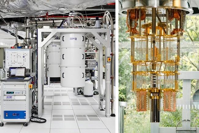 Aujourd'hui, big blue a quatre machines - dont une en France - ayant atteint les 20 qubits, en plus de premières versions de 5 ou 16 qubit. Un supercalculateur de 50 qubit est annoncé pour début 2019. (Crédit : IBM Research)