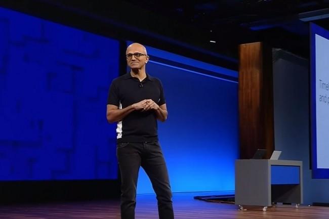Satya Nadella, CEO de Microsoft, a prévenu les 124 000 employés du groupe (chiffre au 30 juin 2017) par email de la réorganisation de l'entreprise. (crédit : D.R.)