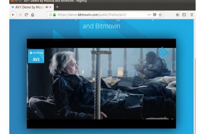 Le codec AV1 d'Alliance for Open Media est intégré depuis plusieurs mois à la version Nightly du navigateur Firefox. (crédit : D.R.)