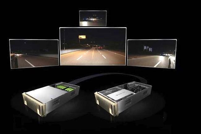 Nvidia Drive Constellation est la plate-forme IA du fournisseur californien pour la conception, le déploiement et maintenant le test des systèmes de véhicules autonomes de niveau 4. (Crédit Nvidia)