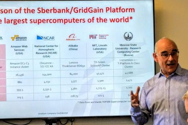 La Sberbank est aujourd'hui le plus gros client de GridGain avec un cluster fort de 2 000 nœuds, nous a indiqué le CEO de GridGain, Abe Kleinfeld. (Crédit Philippe Nicolas)