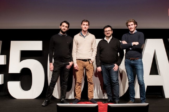 De gauche à droite, Mehdi Kouhen, Timothée Rebours, Dan Lousqui et Maxime Huber ont  lancé  Seald, une solution  de  chiffrement des données  en 2016. (Crédit : D.R.)