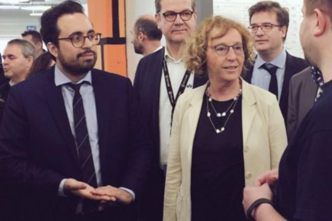 Muriel Pénicaud et Mounir Majhoubi ont dévoilé, ce jeudi 5 avril 2018, le volet numérique du plan d'investissement dans les compétences. (crédit: D.R.)