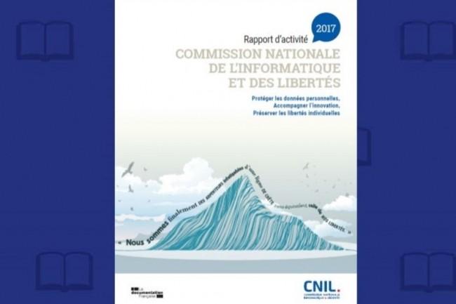 Le rapport d'activité 2017 de la CNIL a été publié le 10 avril 2018. (crédit : D.R.)